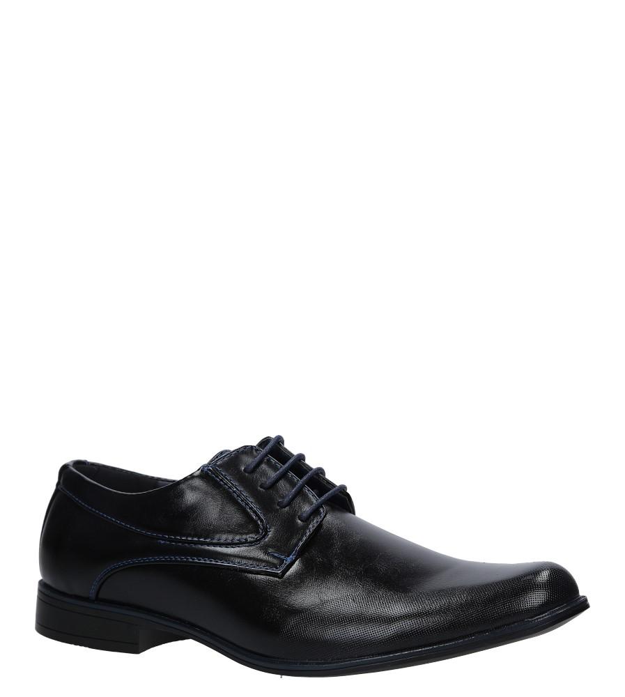 Czarne buty wizytowe sznurowane Casu MXC409