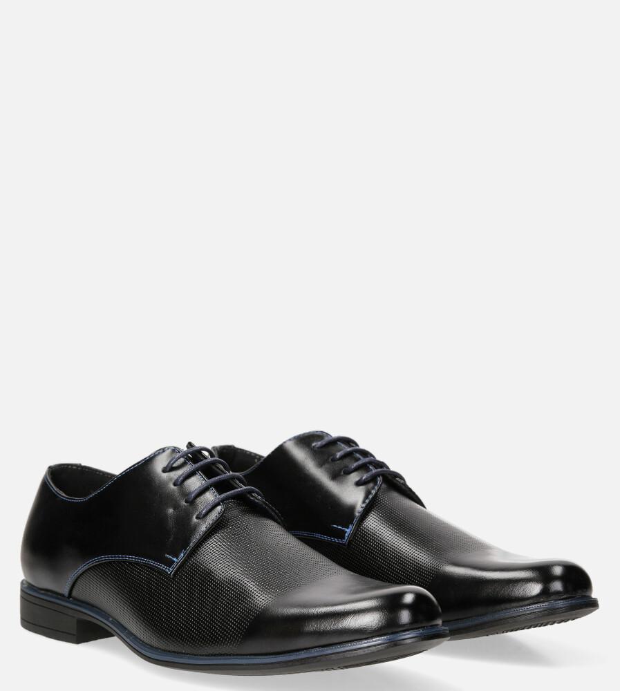 Czarne buty wizytowe sznurowane Casu MXC410
