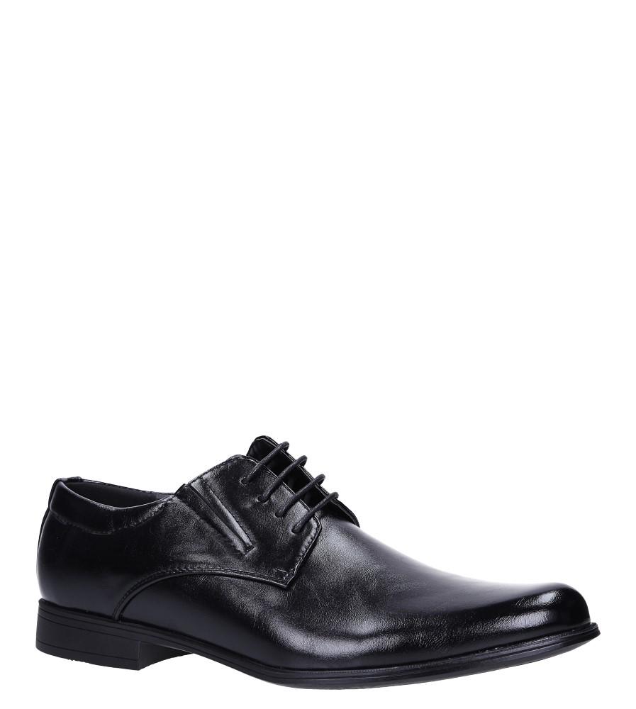 Czarne buty wizytowe sznurowane Casu MXC415