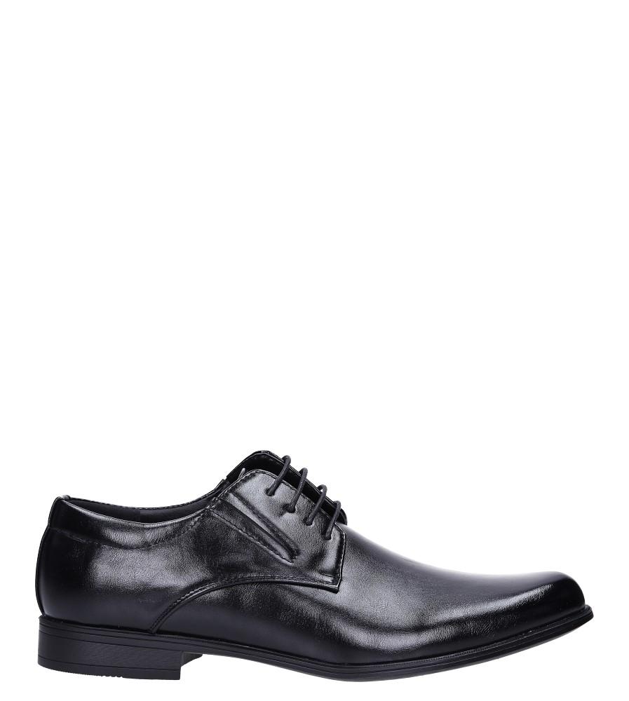 Czarne buty wizytowe sznurowane Casu MXC415 model MXC415