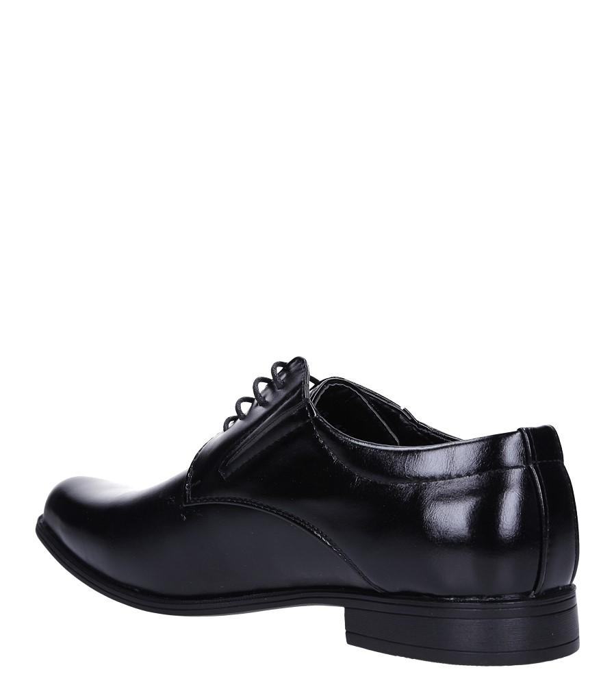 Czarne buty wizytowe sznurowane Casu MXC415 sezon Całoroczny