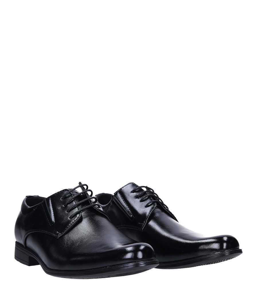 Czarne buty wizytowe sznurowane Casu MXC415 kolor czarny