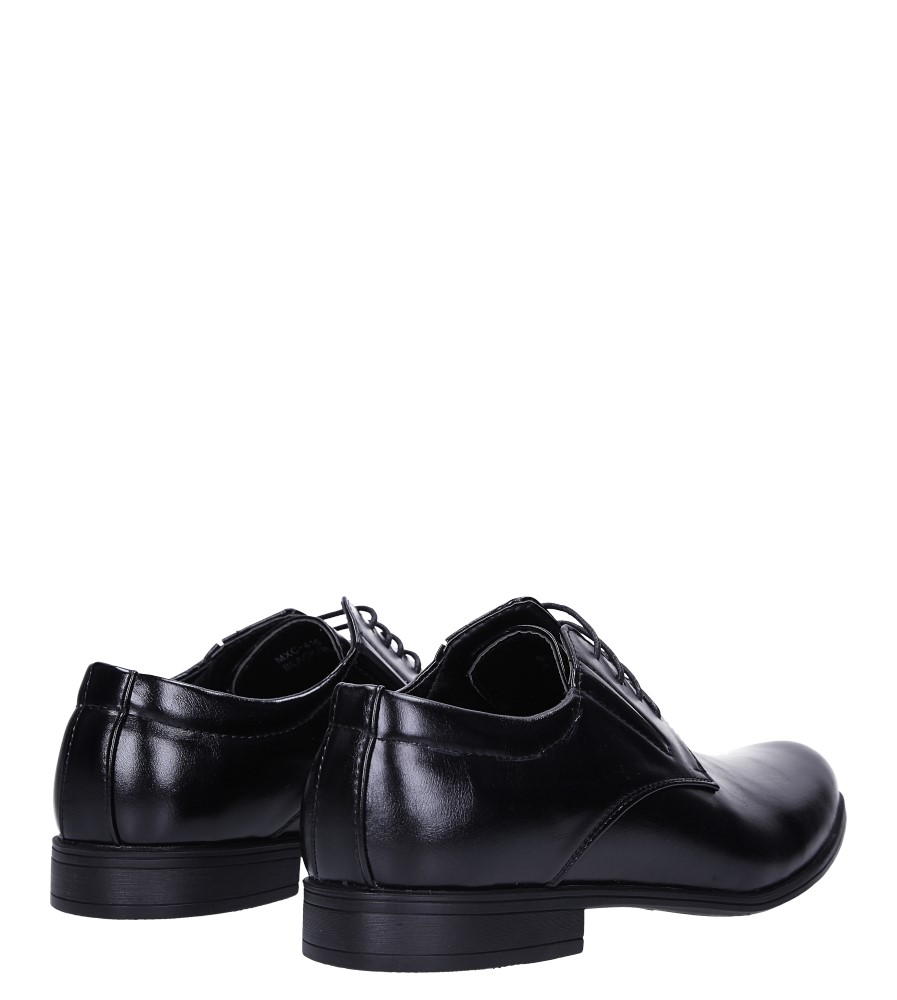 Czarne buty wizytowe sznurowane Casu MXC415 wysokosc_obcasa 2.5 cm