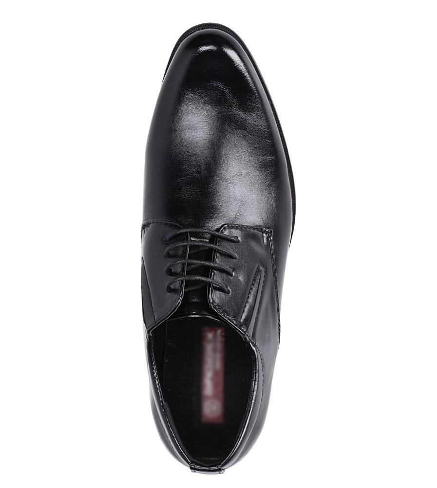 Czarne buty wizytowe sznurowane Casu MXC415 wysokosc_platformy 0.5 cm