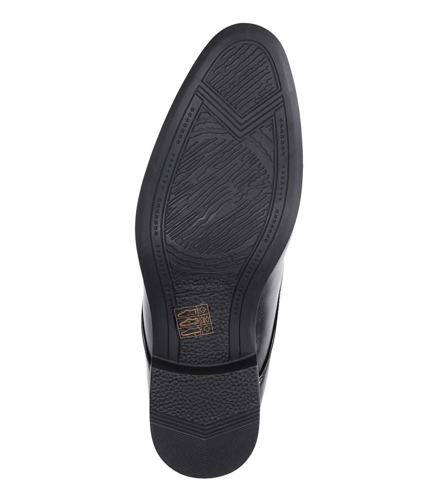 Czarne buty wizytowe sznurowane Casu MXC415 wys_calkowita_buta 10 cm