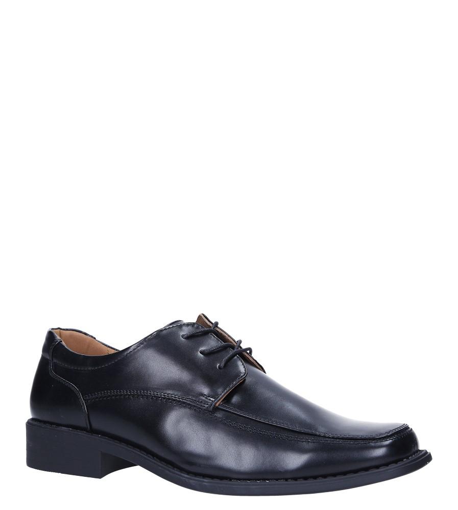 Czarne buty wizytowe sznurowane Casu NZ8866