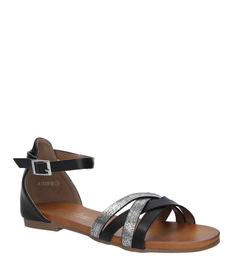 Czarne eleganckie sandały z zakrytą piętą Casu K18X9/B