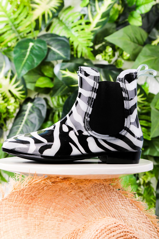 Czarne kalosze sztyblety zebra Casu YJ-21 producent Casu