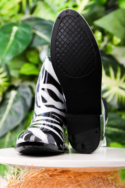 2abfb20785589 ... Czarne kalosze sztyblety zebra Casu YJ-21 sezon Całoroczny ...