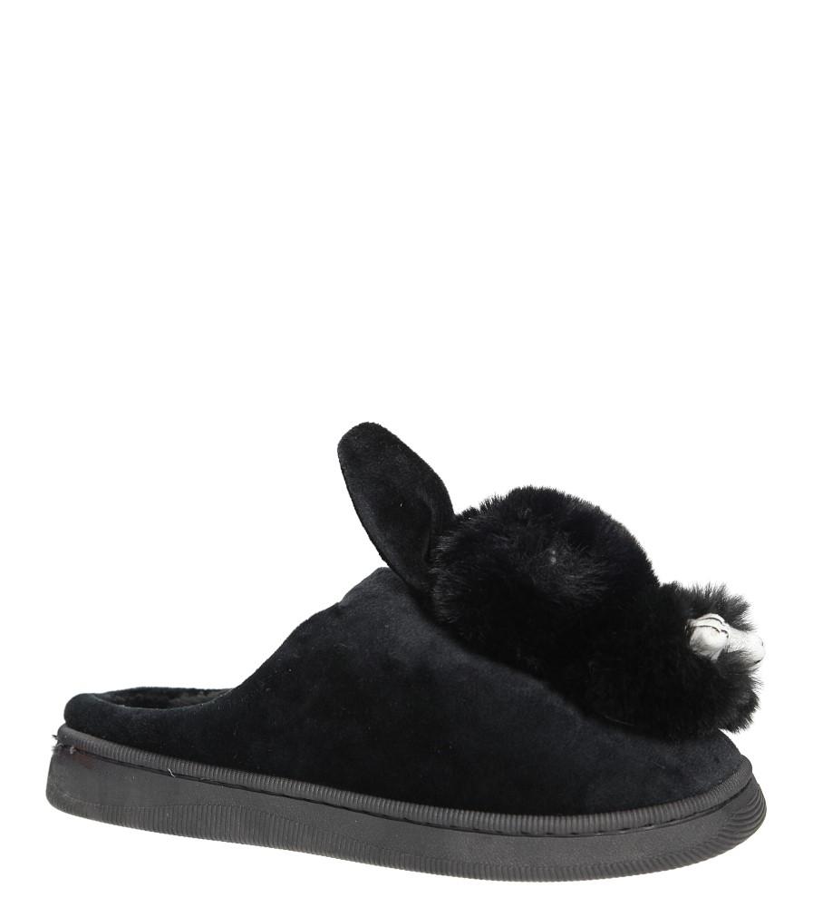 Czarne kapcie króliczki Casu DD90P