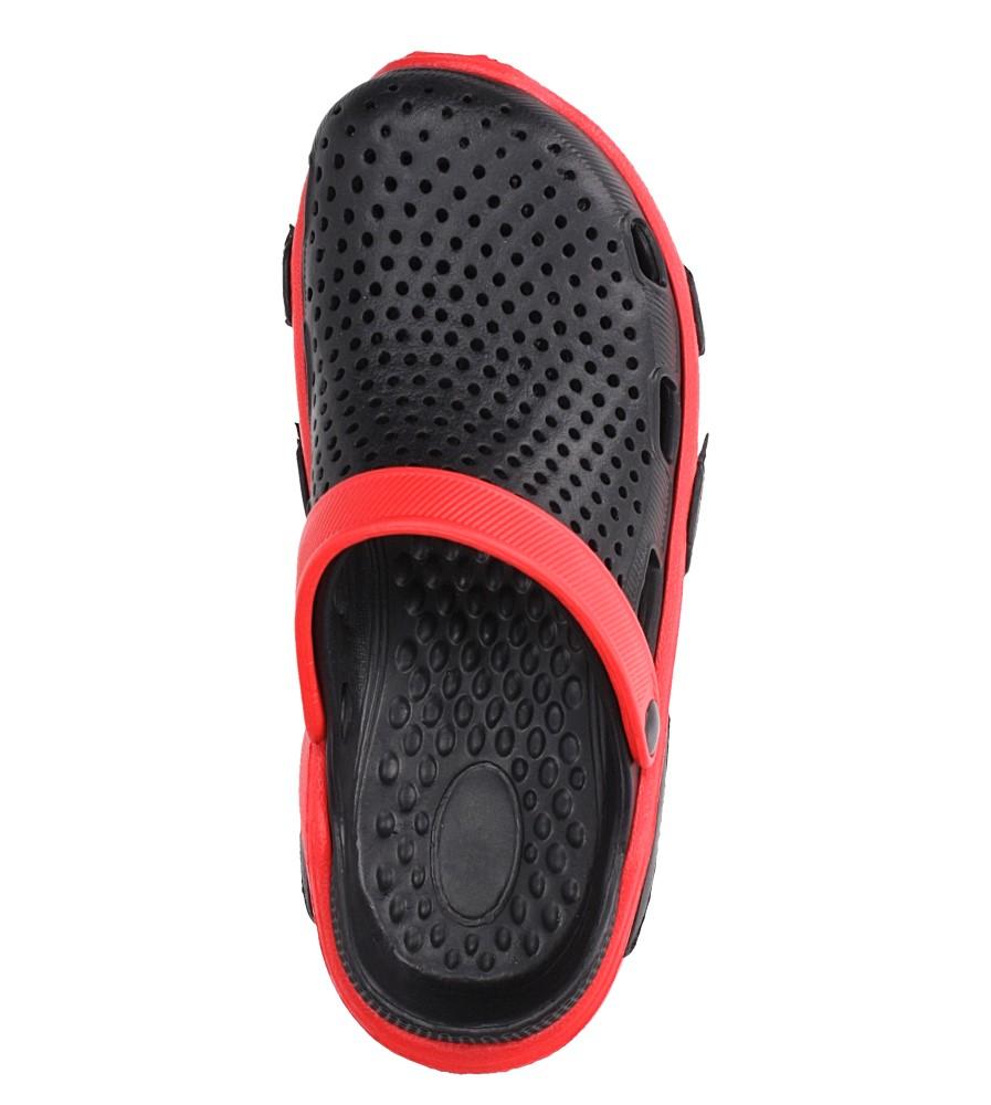 Czarne klapki basenowe Casu CY-7001 kolor czarny, czerwony