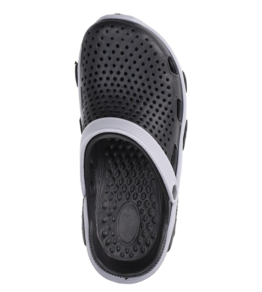 Czarne klapki basenowe Casu CY-7001 kolor czarny, szary