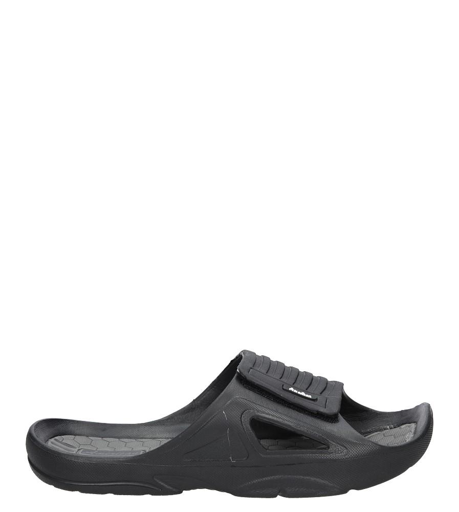 Czarne klapki na rzep American A038-16022-2MA czarny