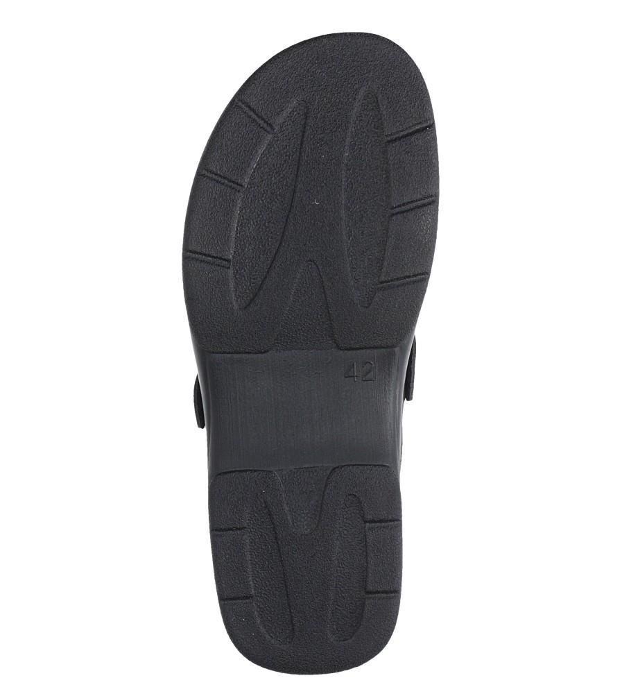 Czarne klapki sanitarne medyczne Inblu PO00007B wysokosc_obcasa 3 cm