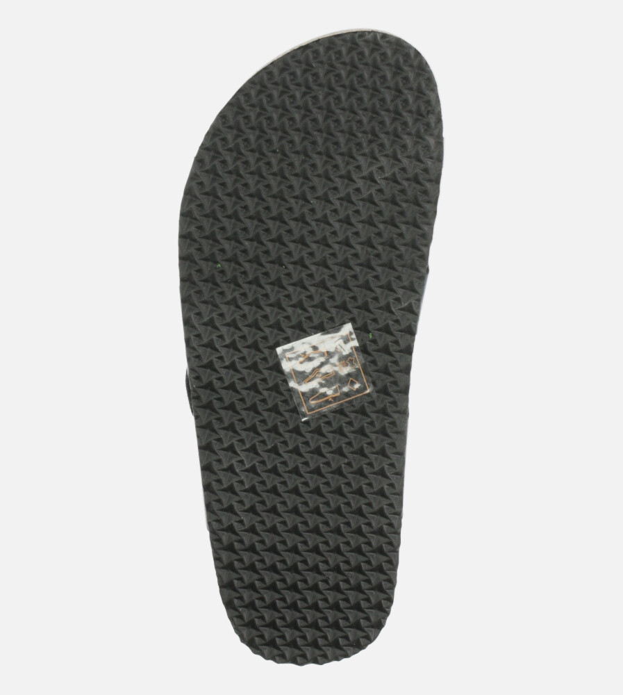 Czarne klapki z klamrami ze skórzaną wkładką i profilowaną korkową podeszwą Casu H20X12/B wysokosc_obcasa 2.5 cm