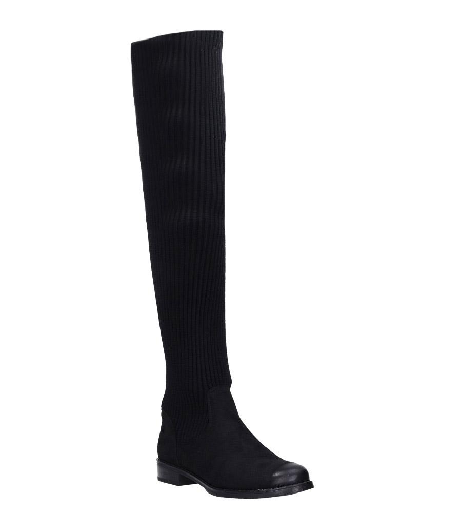 Czarne kozaki skarpety za kolano Jezzi ASA130-1