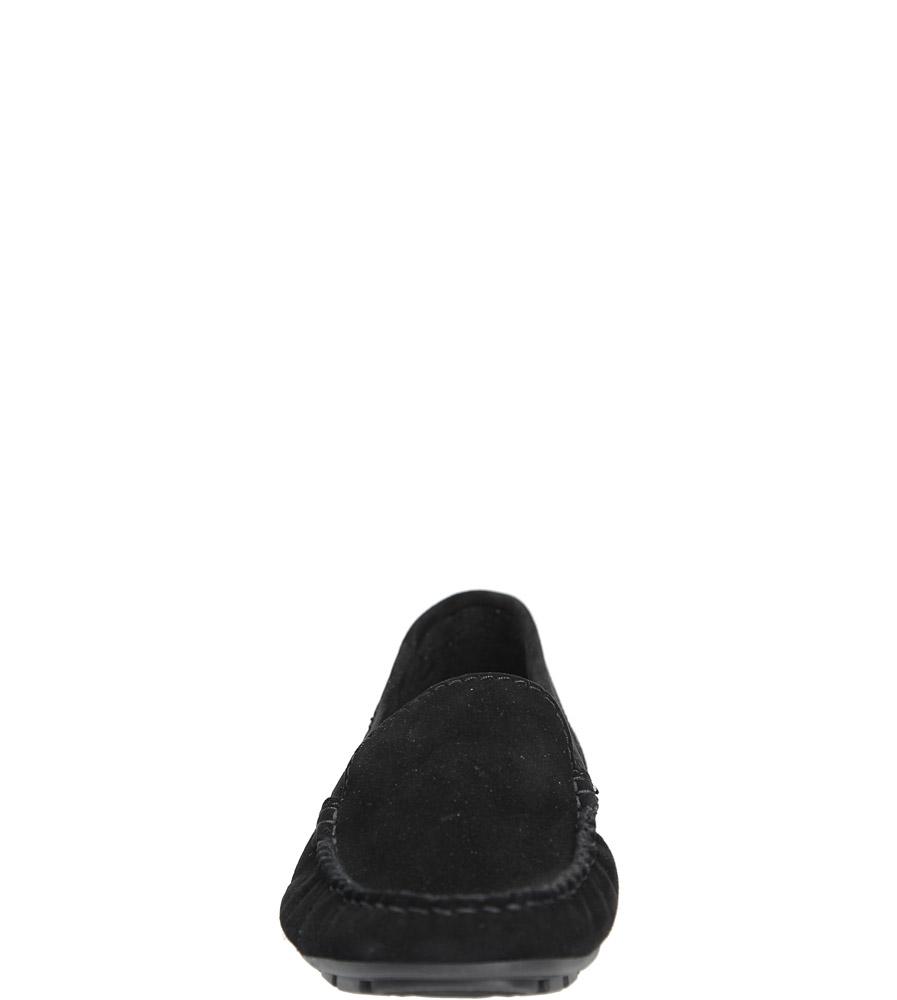 Czarne mokasyny skórzane Nessi 17130 kolor czarny