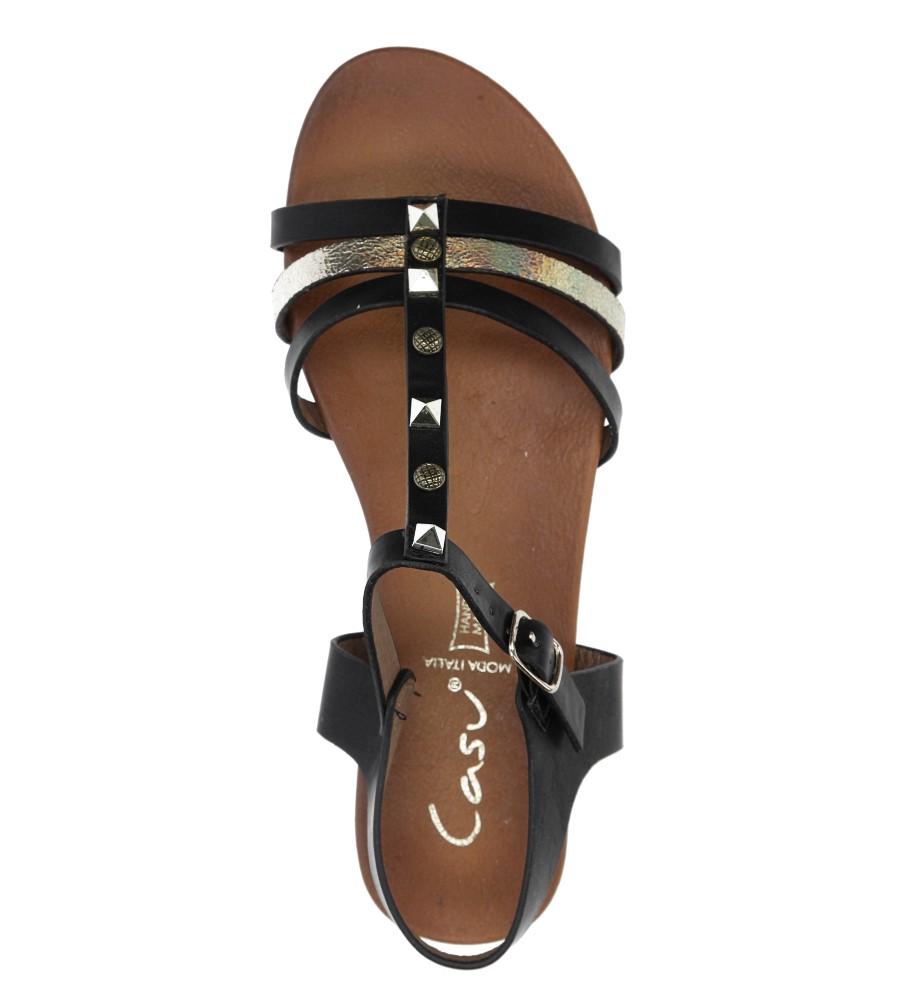 Czarne płaskie i lekkie sandały z dżetami Casu K18X3/B wysokosc_obcasa 2 cm