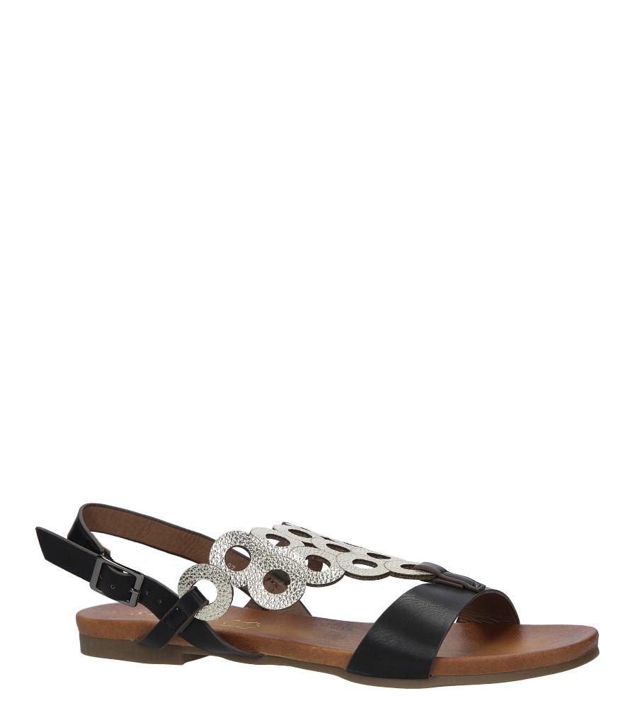 Czarne płaskie sandały ażurowe S.Barski 541-97
