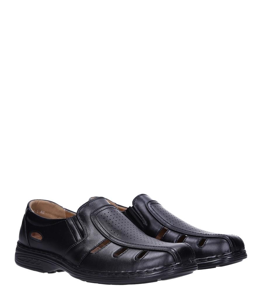 Czarne półbuty Casu 3829-1 kolor czarny