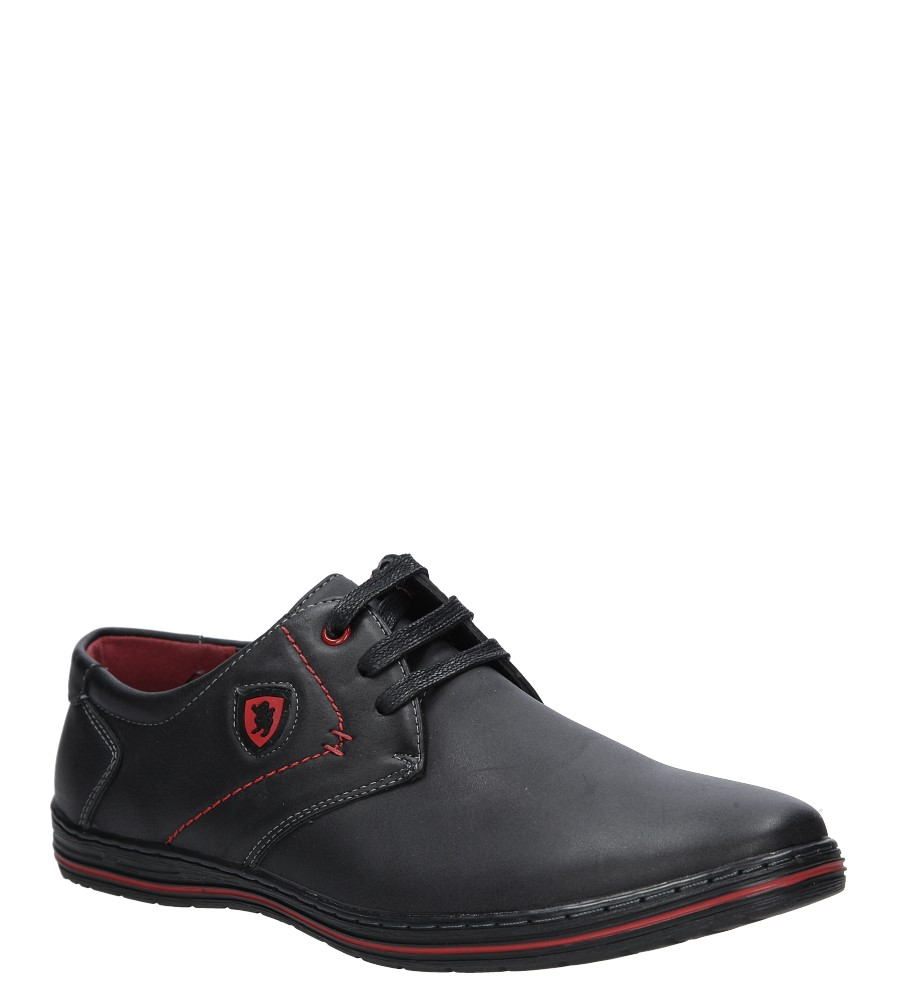 Czarne półbuty Casu MXC376 czarny