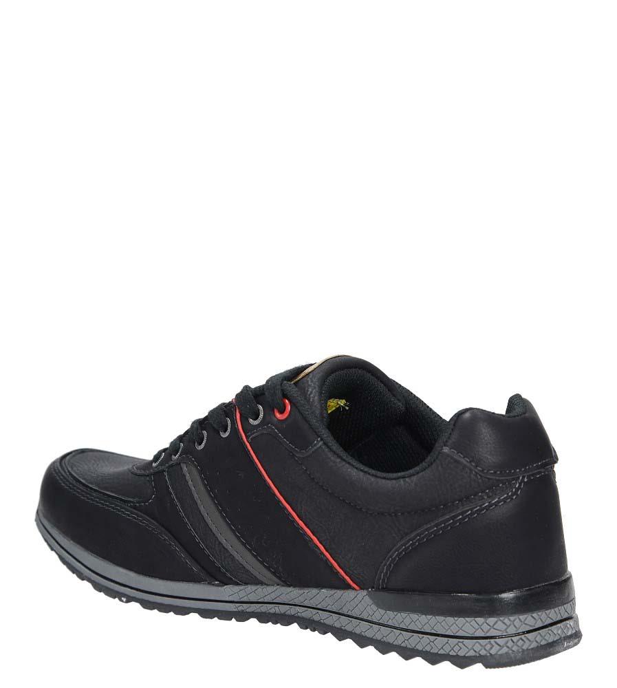 Czarne półbuty Casu MXC7502 kolor czarny