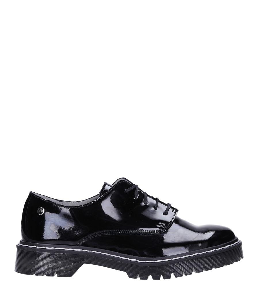 Czarne półbuty skórzane lakierowane sznurowane Maciejka 04087-61/00-5 wys_calkowita_buta 12 cm