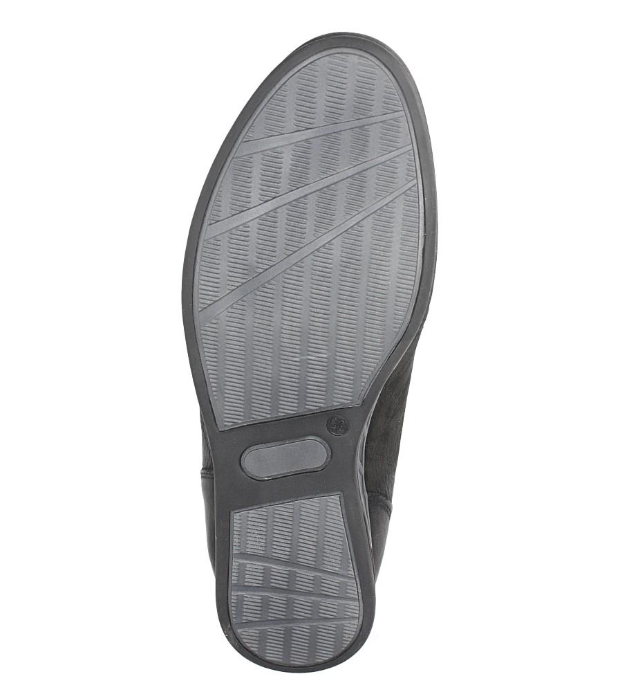Czarne półbuty skórzane sznurowane Casu C-7/10/NCZ wys_calkowita_buta 10.5 cm
