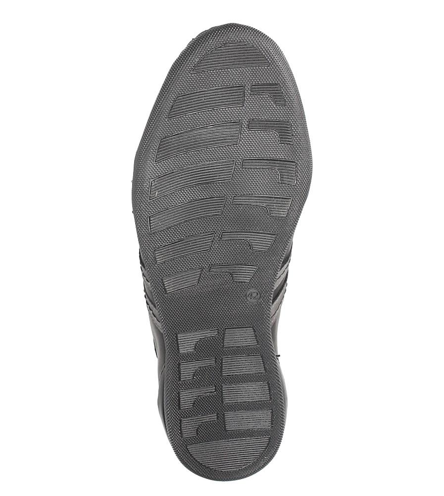 Czarne półbuty skórzane sznurowane Casu R-2/10/140 wys_calkowita_buta 10.5 cm