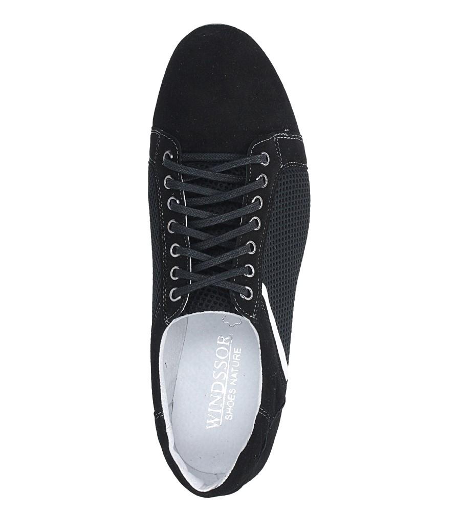 Czarne półbuty skórzane sznurowane Windssor SP26 wys_calkowita_buta 11 cm