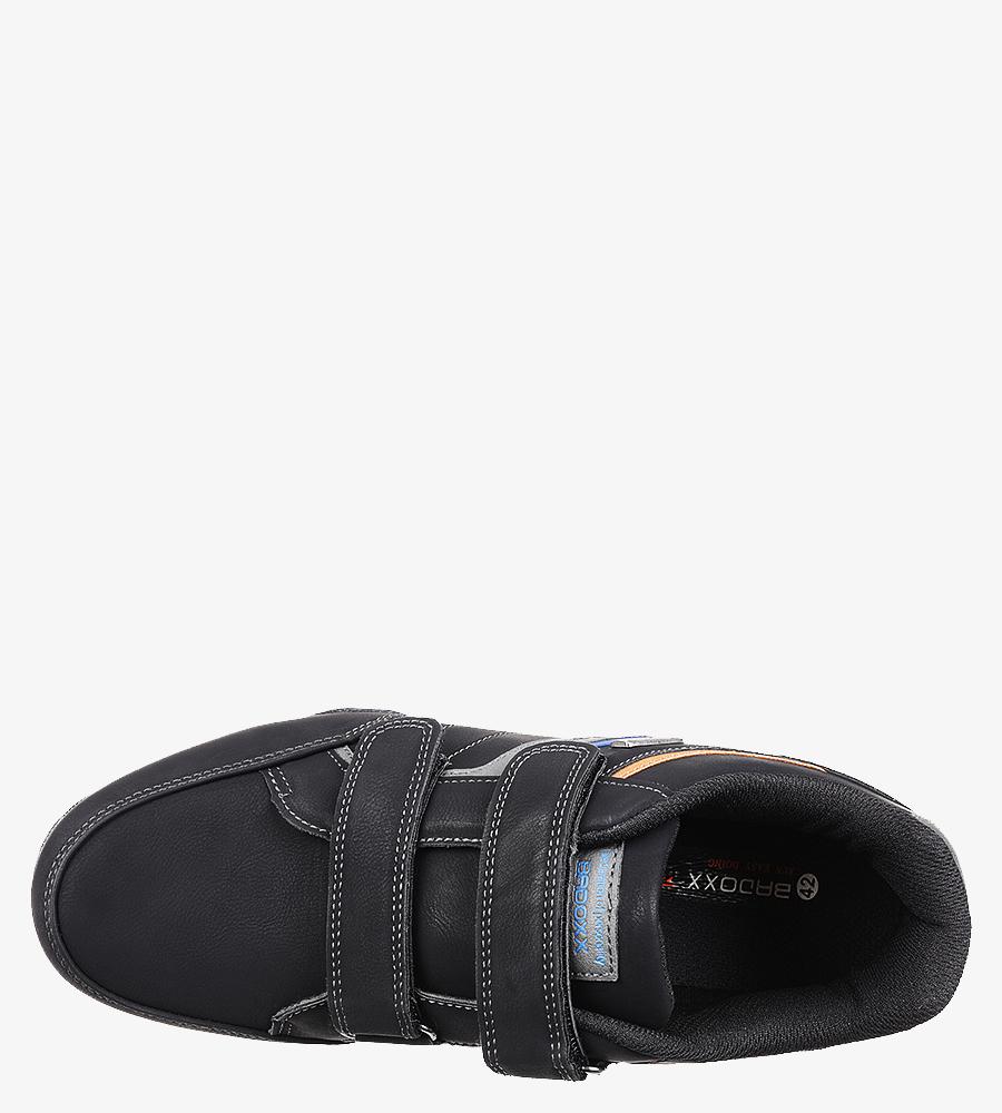 Czarne półbuty sportowe na rzepy Casu MXC7513 wysokosc_platformy 1 cm
