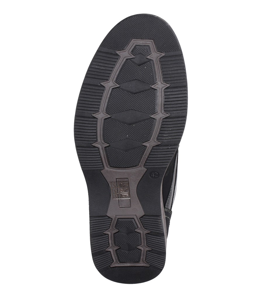 Czarne półbuty sznurowane Casu 603-A wys_calkowita_buta 12 cm