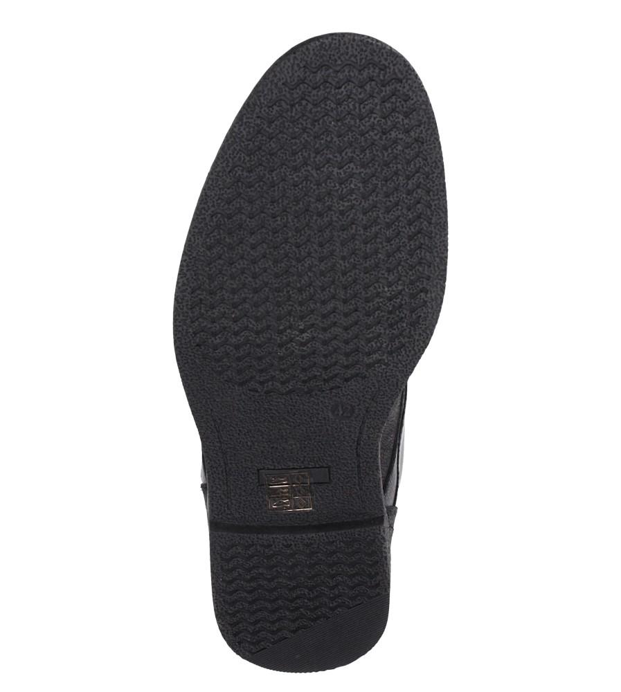 Czarne półbuty sznurowane Casu 605 wys_calkowita_buta 12 cm