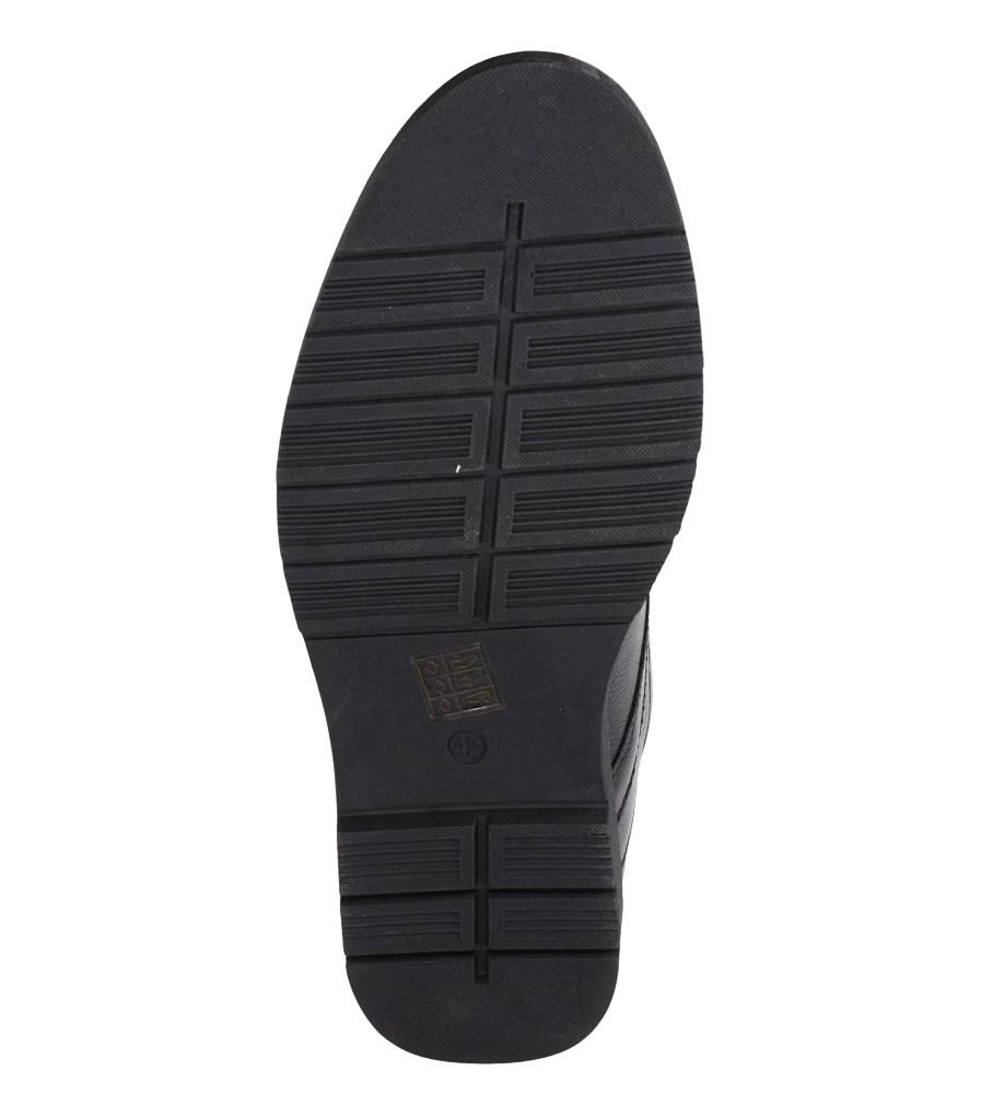Czarne półbuty sznurowane Casu 606 wys_calkowita_buta 12 cm