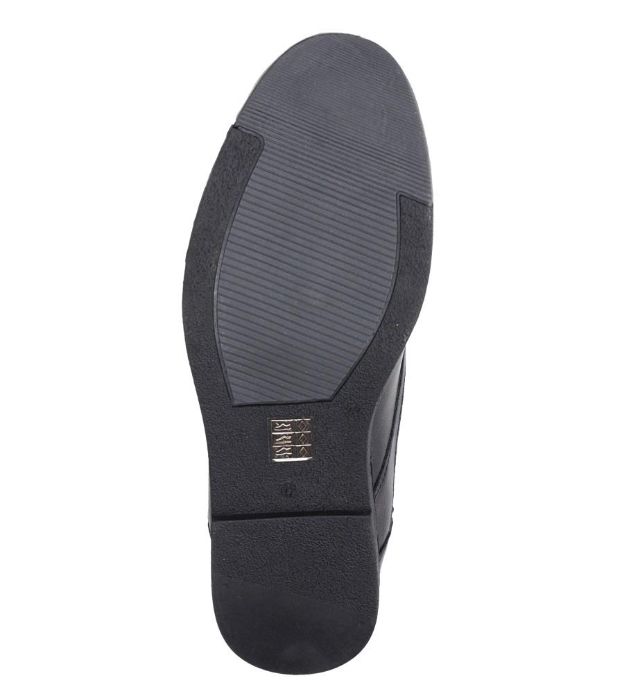 Czarne półbuty sznurowane Casu A2333-6 wys_calkowita_buta 12 cm