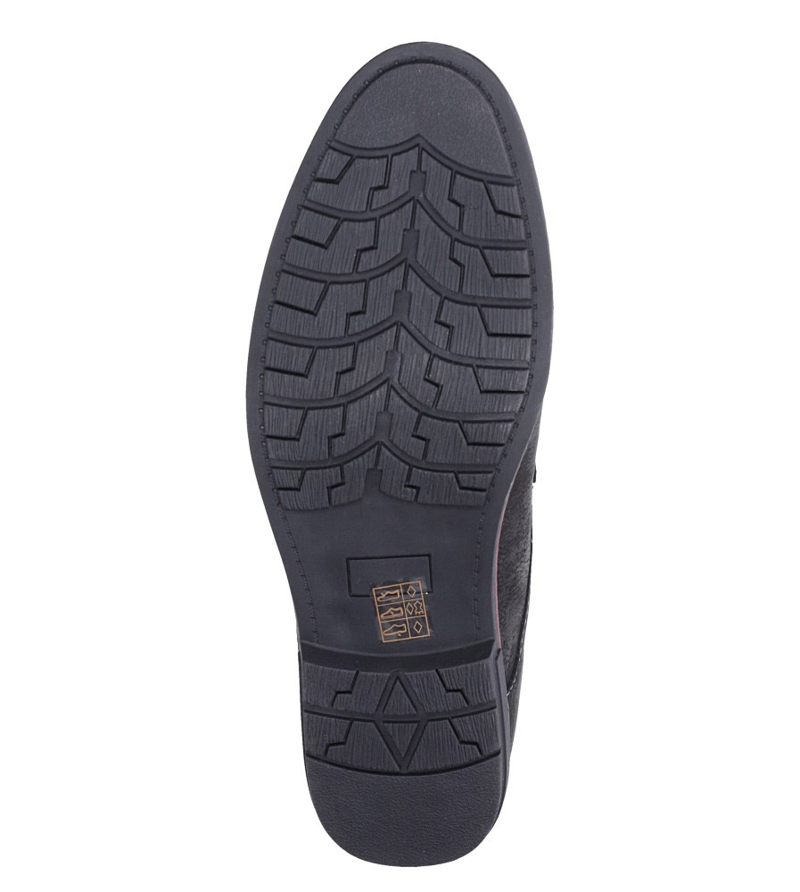 Czarne półbuty sznurowane Casu MXC362 wys_calkowita_buta 13.5 cm
