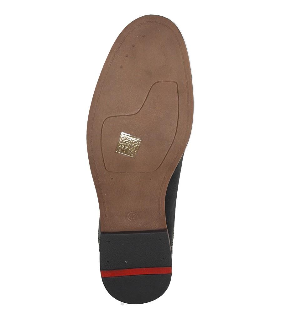 Czarne półbuty sznurowane ze skórzaną wkładką Casu AB37-5 wys_calkowita_buta 12.5 cm