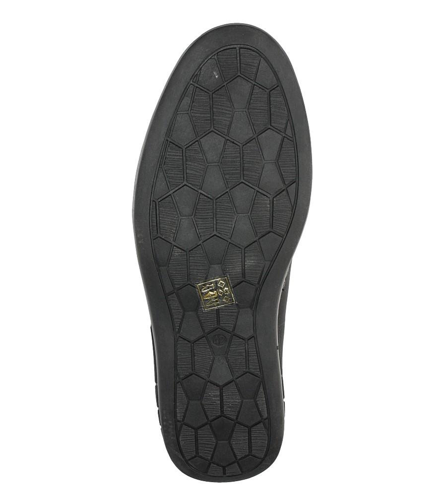 Czarne półbuty sznurowane ze skórzaną wkładką Casu AB45 wys_calkowita_buta 11.5 cm