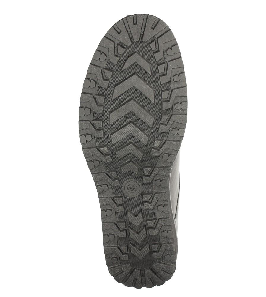 Czarne półbuty sznurowane ze skórzaną wkładką Casu M718-1 wys_calkowita_buta 13.5 cm