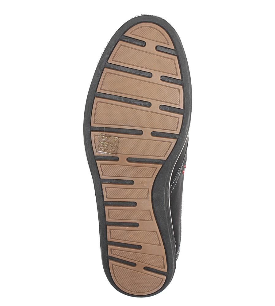Czarne półbuty sznurowane ze skórzaną wkładką Casu MA66-4 wys_calkowita_buta 13 cm
