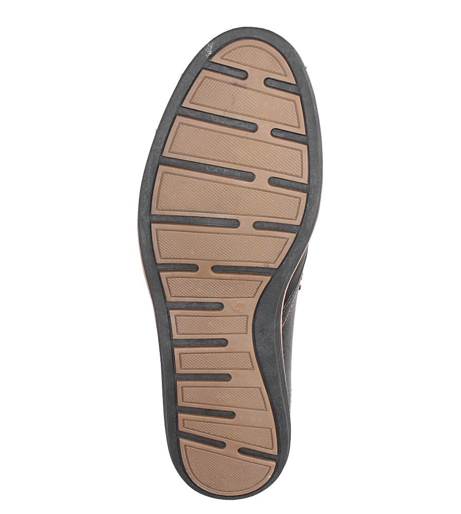 Czarne półbuty sznurowane ze skórzaną wkładką Casu MA66-5 wys_calkowita_buta 13 cm
