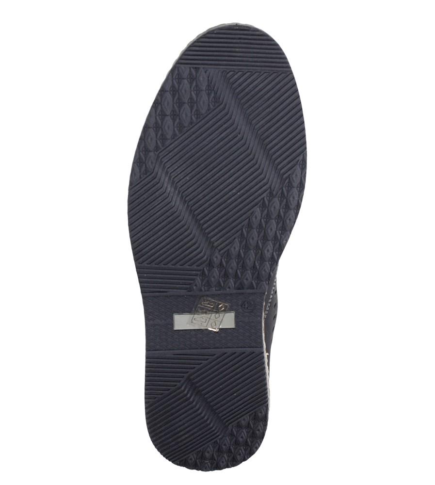 Czarne półbuty wsuwane Casu 612 wys_calkowita_buta 8.5 cm