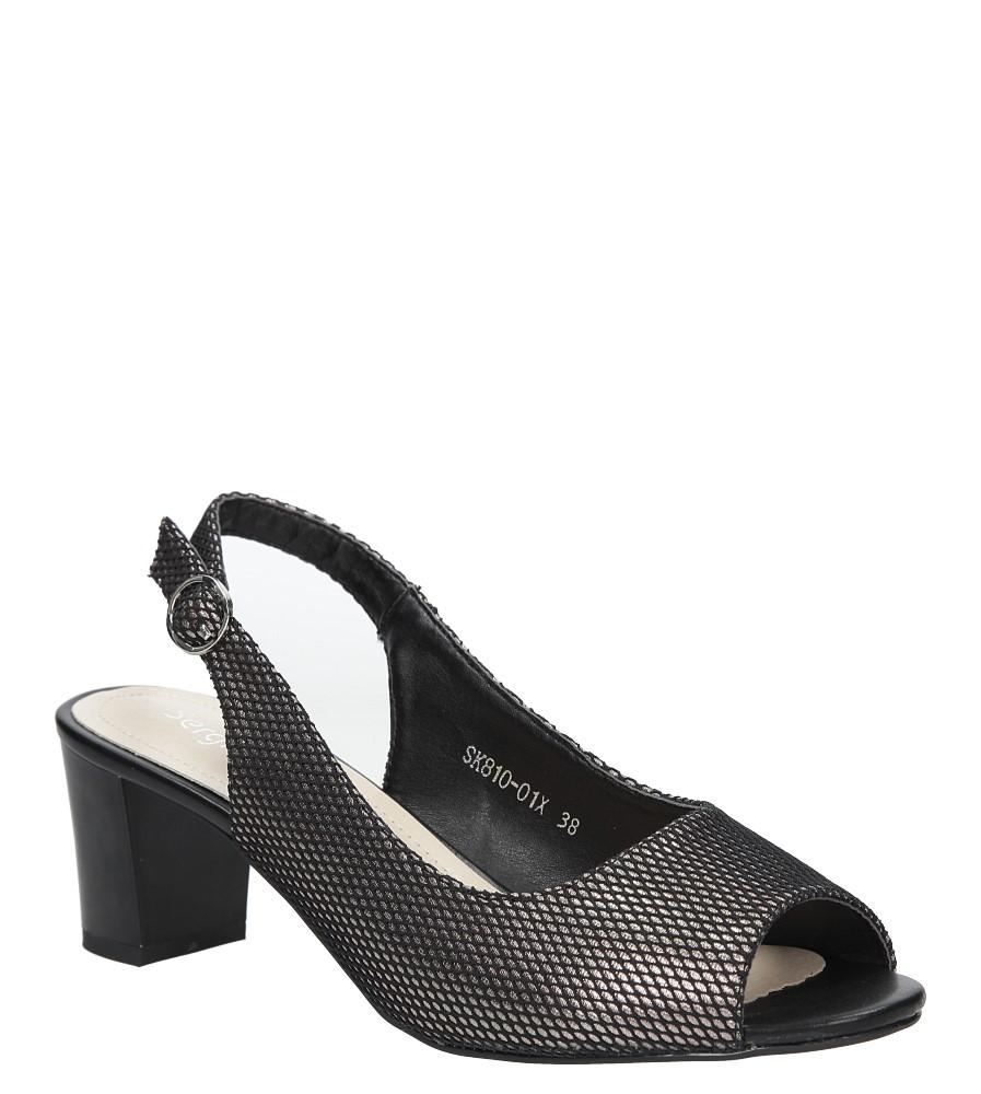 99c66a0a3ae5 Czarne sandały błyszczące na słupku Sergio Leone SK810-01X producent Sergio  Leone