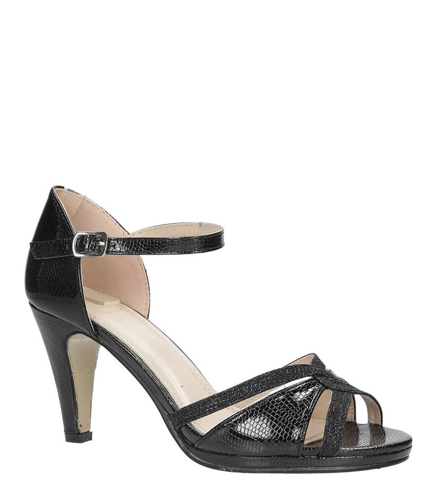 Czarne sandały karnawałowe z zakrytą piętą Casu 7-W303A