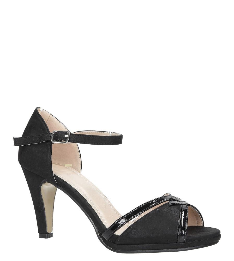 Czarne sandały karnawałowe z zakrytą piętą Casu 7-W308A producent Casu