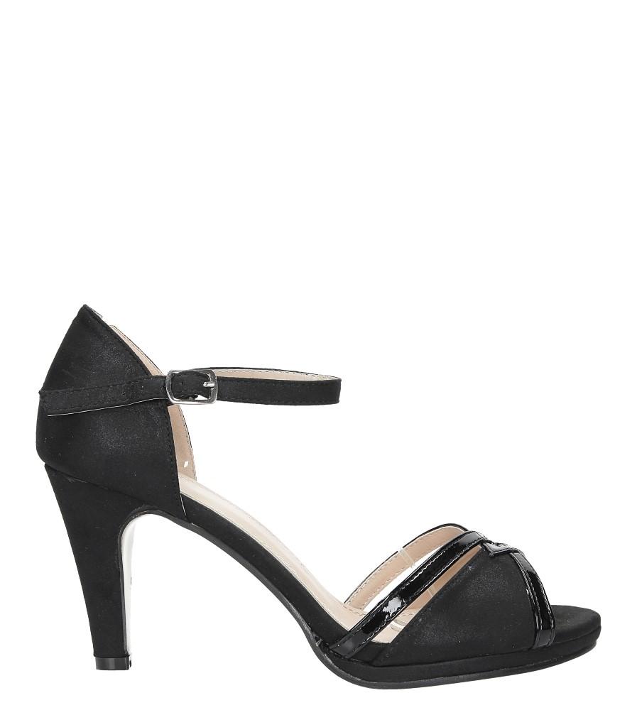 Czarne sandały karnawałowe z zakrytą piętą Casu 7-W308A wysokosc_platformy 1 cm