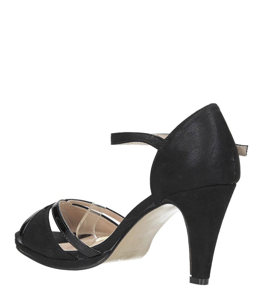 Czarne sandały karnawałowe z zakrytą piętą Casu 7-W308A wys_calkowita_buta 15 cm