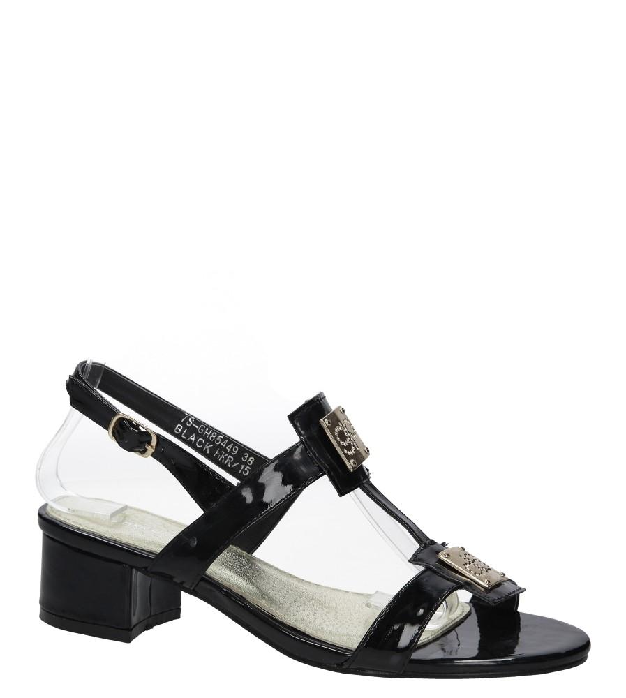 7152dc34b19c5 Czarne sandały lakierowane na niskim obcasie Casu 7S-GH85449 producent Casu