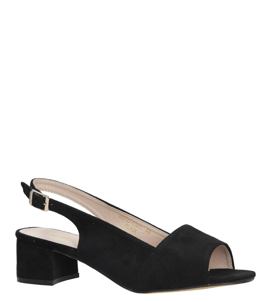 Czarne sandały na niskim obcasie Jezzi 8SD35-0385 czarny