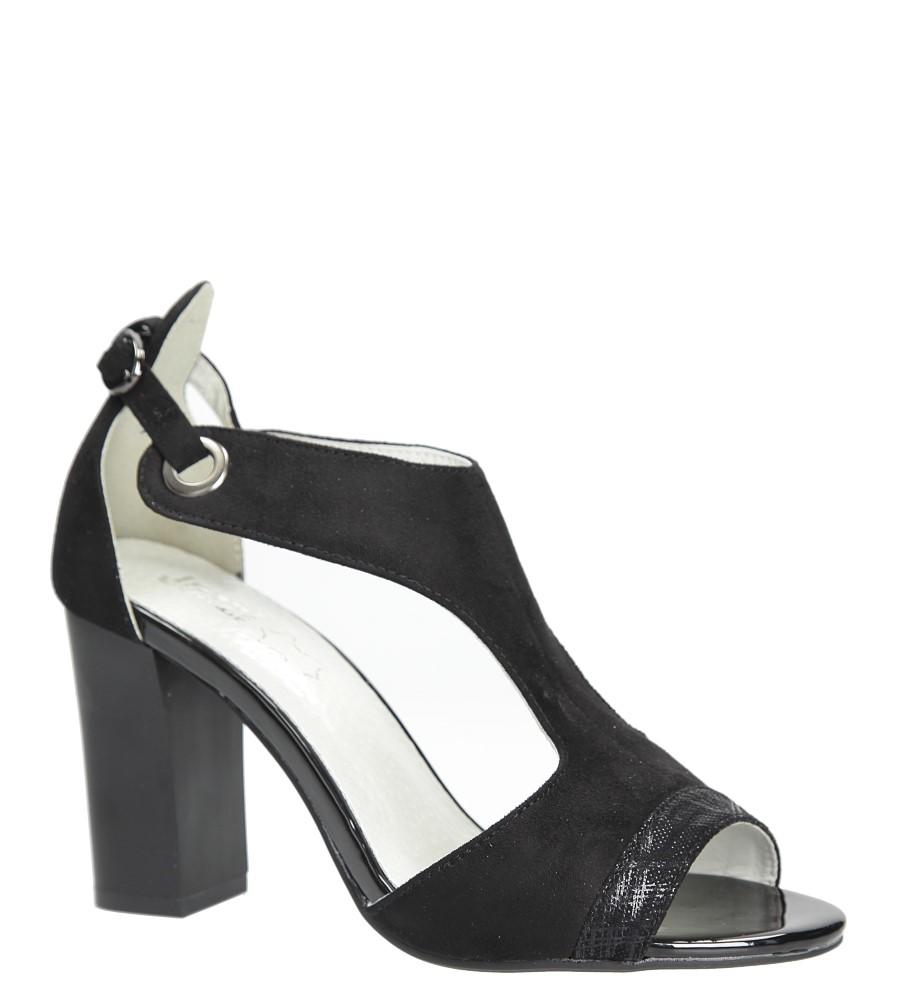 Czarne sandały na obcasie Jezzi SA109-5 producent Jezzi